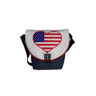 米国I愛アメリカ メッセンジャーバッグ