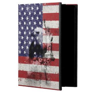米国ID155の旗そして記号 POWIS iPad AIR 2 ケース