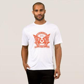 米国MILITARY_redの鉛筆のデザイン Tシャツ
