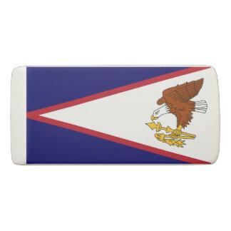 米領サモアの旗が付いている愛国心が強いくさびの消す物 消しゴム