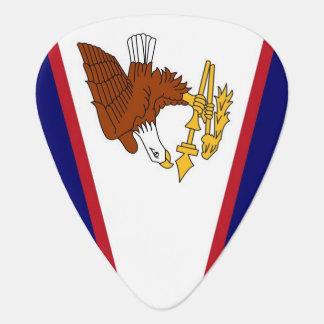 米領サモアの旗が付いている愛国心が強いギターの一突き ギターピック