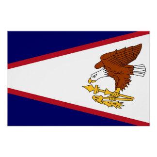 米領サモアの旗が付いている愛国心が強い壁ポスター ポスター