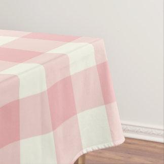 粉のピンクのギンガム/バッファローの点検のテーブルクロス テーブルクロス