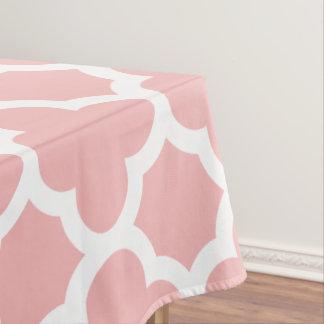 粉のピンクのクラシックなクローバーのテーブルクロス テーブルクロス