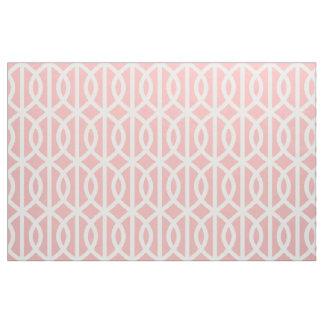 粉のピンクの格子垣パターン生地 ファブリック