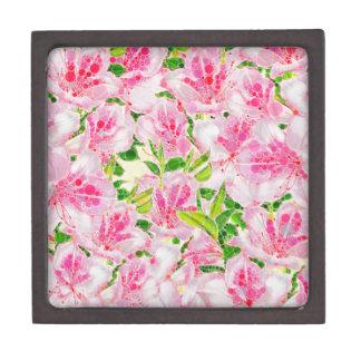 粉のピンクの緑の抽象芸術Flowera ギフトボックス