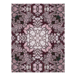 粉のピンクの黒の抽象芸術 レターヘッド