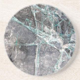 粉砕されたガラス コースター