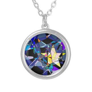 粉砕された星明かりのネックレス シルバープレートネックレス