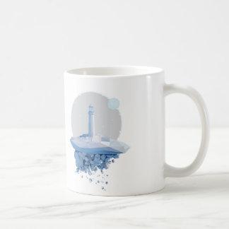粉砕される コーヒーマグカップ