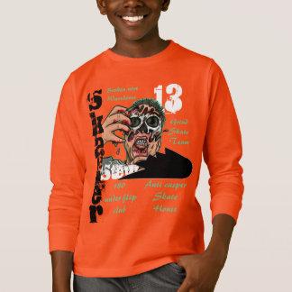 粉砕のスケートボードの衣類のスポーツロゴ Tシャツ