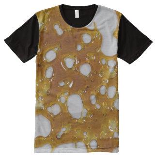 粉砕のワイシャツ オールオーバープリントT シャツ