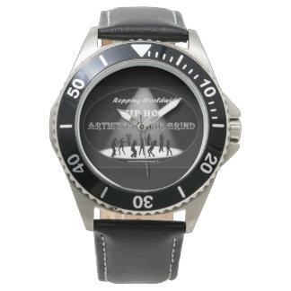 粉砕の人のクラシックな腕時計のヒップホップの芸術家 腕時計