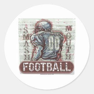 粉砕の口のフットボールのステッカー ラウンドシール