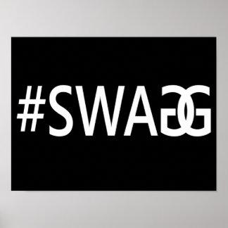 、粋でおもしろいな、#SWAG/SWAGGクールなインターネットの引用文 ポスター