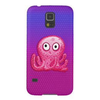 粋でかわいいピンクおよび紫色のタコ GALAXY S5 ケース
