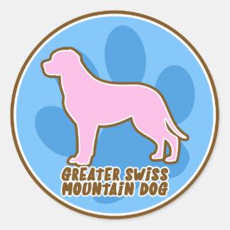 粋でより素晴らしいスイス山犬 ラウンドシール
