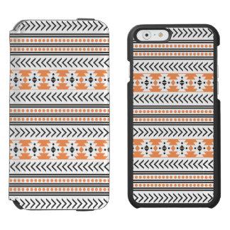 粋でアステカな種族のプリント幾何学的なPattern|Orange Incipio Watson™ iPhone 6 ウォレットケース