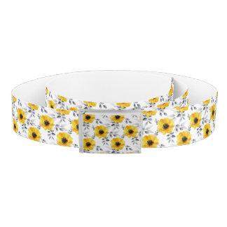粋でガーリーで黄色い花模様 ベルト