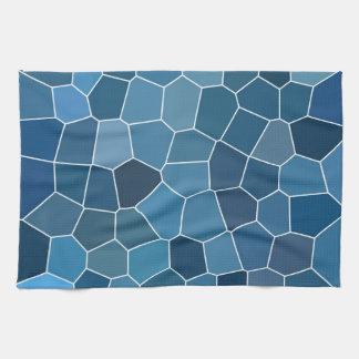 粋でスタイリッシュで青いパターン キッチンタオル