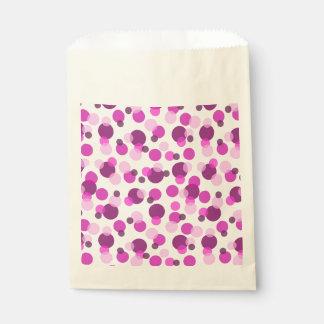 粋でモダンなピンクおよび紫色の水玉模様パターン フェイバーバッグ