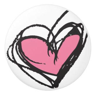 粋で及びエレガントなピンクの陶磁器のノブ- セラミックノブ