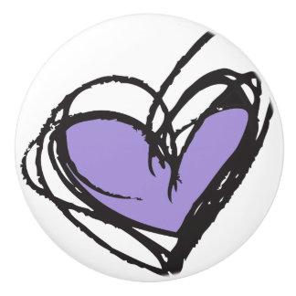 粋で及びエレガントな紫色の陶磁器のノブ- セラミックノブ