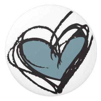 粋で及びエレガントな青い陶磁器のノブ- セラミックノブ