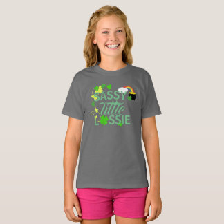 粋で小さい少女;ラッシーのワイシャツ Tシャツ