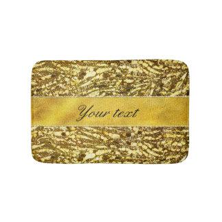 粋で模造のな金ゴールドホイルのシマウマは縞で飾ります バスマット
