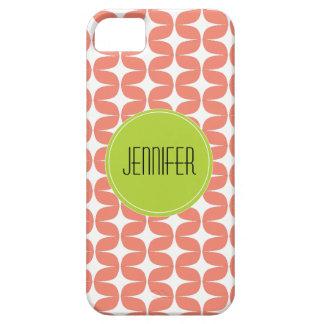 粋で白い珊瑚のライムパターン名前のiPhone 5 iPhone SE/5/5s ケース