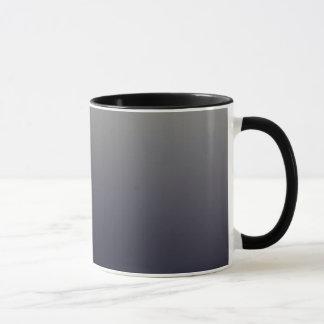 粋で黒くグラデーションな勾配 マグカップ