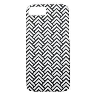 粋で黒く及び白いシェブロンパターンiPhoneの箱 iPhone 8/7ケース