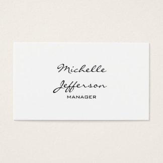 粋で黒く及び白い原稿のマネージャーの名刺 名刺