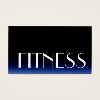 粋で黒く青いフィットネスのスポーツの名刺 名刺