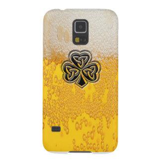 粋なおもしろいビールアイルランドの幸運なシャムロック GALAXY S5 ケース