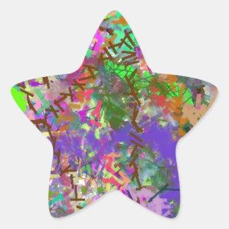粋なおもしろい色の当惑のいくじなしの女の子の迷彩柄のカラフルの女の子 星シール