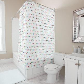 粋なクリスマスの浴室の装飾、木ライト シャワーカーテン