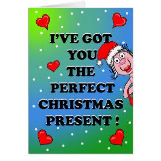粋なクリスマスカード カード