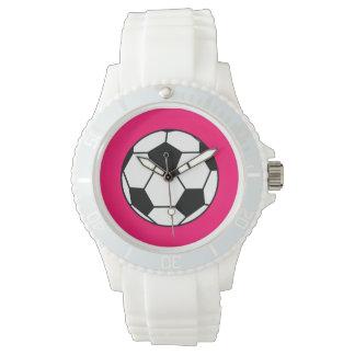 粋なサッカーボールの腕時計 腕時計