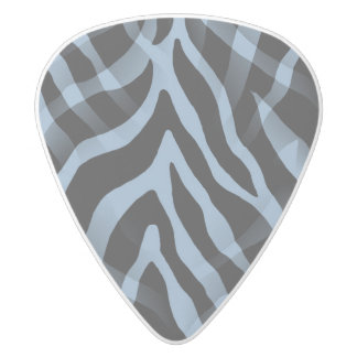 粋なスカイブルーのシマウマのストライプのプリント ホワイトデルリン ギターピック