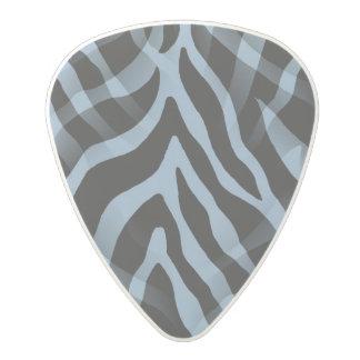 粋なスカイブルーのシマウマのストライプのプリント ポリカーボネートギターピック