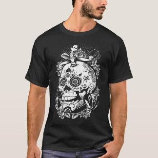 粋なスカルのおもしろいのワイシャツ Tシャツ
