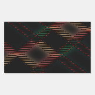 粋なタイルのステッチ 長方形シール