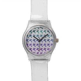 粋なチータは印書イメージグリッターの十字の衰退しました 腕時計