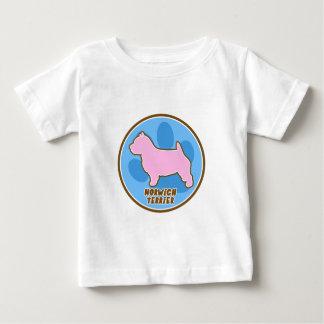 粋なノリッジテリア ベビーTシャツ