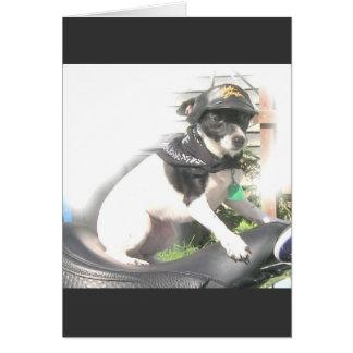 粋なバイクもしくは自転車に乗る人の可愛い人 カード