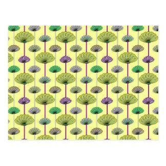 粋なパステル調の花柄 ポストカード