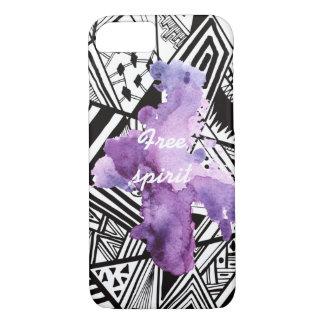粋なパターン紫色のしぶきiPhone7の箱 iPhone 8/7ケース