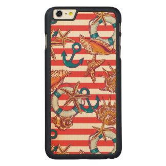 粋なビーチパターン CarvedメープルiPhone 6 PLUS スリムケース